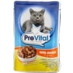 PreVital for cats in sauce with chicken food 100g