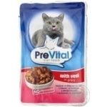 PreVital for cats  in sauce with veal food 100g