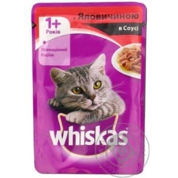 Корм для котов Whiskas с говядиной в соусе 100г - купить, цены на Фуршет - фото 5