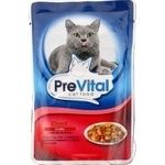 PreVital for cats in jelly with beef food 100g