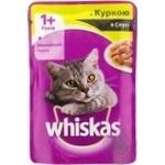 Корм для дорослих котів Whiskas з куркою в соусі 100г