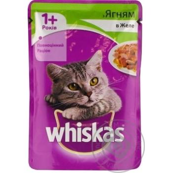 Корм для взрослых котов Whiskas с ягненком в желе 100г - купить, цены на Фуршет - фото 6