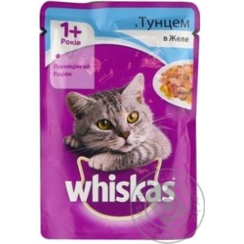 Корм для взрослых котов Whiskas с тунцом в желе 100г