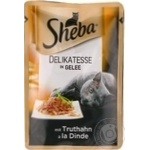 Sheba with turkey in jelly for cats food 85g