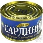 Fish sardines Ekvator №5 canned 230g