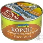 Fish carp Proliv №5 in tomato sauce 240g