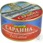 Fish sardines in tomato sauce 240g can