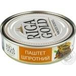 Паштет Рижское золото шпротный 160г - купить, цены на Novus - фото 1