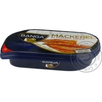 Консерва рибна Скумбрія в томатному соусі Banga Premium 170г