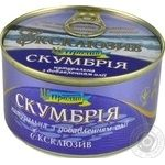 Fish atlantic mackerel Proliv №5 with addition of butter 240g can