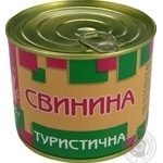 Pork Pyatachok Turystychna pork sterilized 525g can