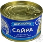 Akvamaryn canned in oil fish saury 230g