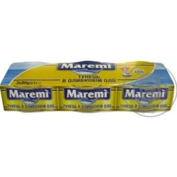 Тунец Maremi в оливковом масле 3*80г