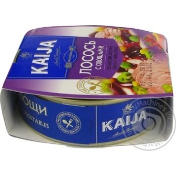 Лосось Kaija с овощами в пикантном соусе 220г - купить, цены на МегаМаркет - фото 3