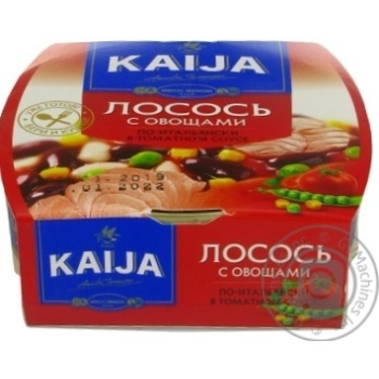 Kaija Salmon with Vegetables in Tomato Sauce 220g - buy, prices for MegaMarket - image 2