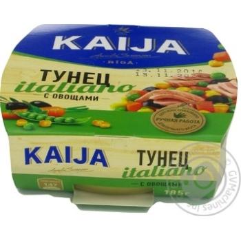 Тунец Kaija Italiano с овощами 185г