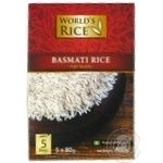 Groats rice basmati World's rice long grain white 5pcs 400g cardboard box