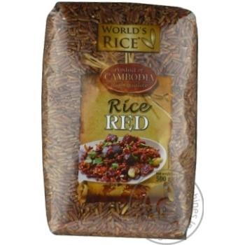 World's Rice long grain red rice  500g