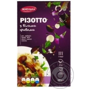 Zhmenka Risotto with white mushrooms 200g - buy, prices for Novus - image 1