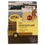 Крупа Август Рис пропаренный в пакетиках с семенами льна 350г