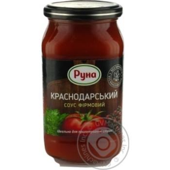 Соус томатний Руна Краснодарський фірмовий 485г - купити, ціни на Novus - фото 1