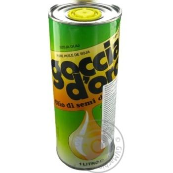 Олія соєва рафінована дезодорована Goccia D'oro 1л