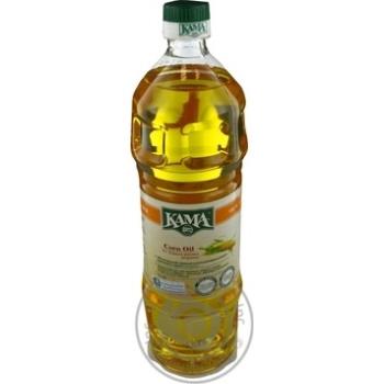 Масло Кама кукурузное рафинированное дезодорированное 1000мл