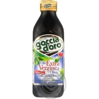 Oil Goccia d'oro Private import olive unrefined 500ml glass bottle
