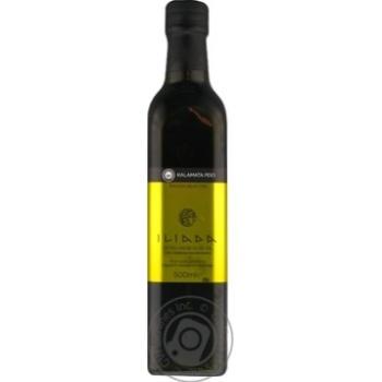 Олія оливкова нерафінована першого холодного віджиму екстра класу Iliada 0,5л