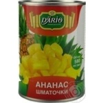 Fruit pineapple Dario in syrup 580ml