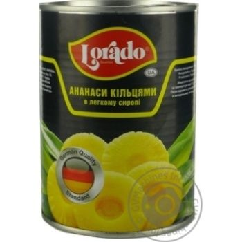 Pineapple slices Lorado in light syrup 565g Thailand