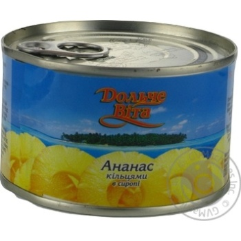Pineapple slices Dolce Vita in syrup 227g