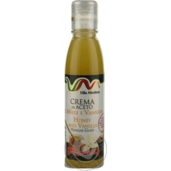 Соус з винного оцту з медом та ваніллю Villa Modena пет 150мл