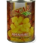 Pineapple chunks Oscar in syrup 565g