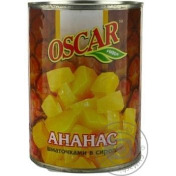 Pineapple chunks Oscar in syrup 565g
