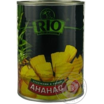 Ананаси Ріо шматочками в сиропі 580мл Таїланд - купити, ціни на Novus - фото 1
