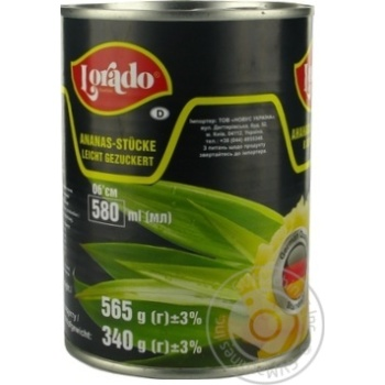 Pineapple chunks Lorado in light syrup 565g Thailand - buy, prices for Novus - image 7