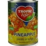 Tropic Life Pineapple Сhops In Syrup