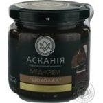 Honey-cream Askania with chocolate 250g glass jar