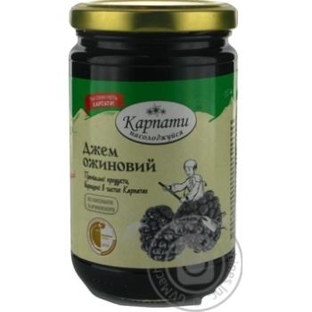 Jam Karpaty nasolodzhuisia blackberry with blackberry 360g