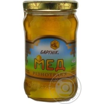 Мед цветочный разнотравье 400г Бартник