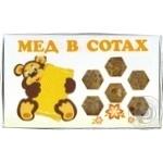 Мед в сотах стільниковий мед Лексо 210г