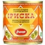 Молоко сгущенное Ичня Ириска вареное 8,5% 370г - купить, цены на Фуршет - фото 1