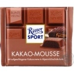 Ritter sport cacao-mousse milk chocolate 100g