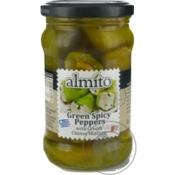Зеленый острый перец Almito с начинкой из сливочного сыра 270г