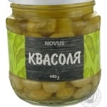 Vegetables kidney bean Novus Private import canned 460g glass jar