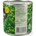 Novus Canned Green Pea Can 410g - buy, prices for Novus - image 3
