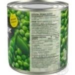 Горошок зелений Novus консервований з/б 410г - купити, ціни на Novus - фото 2