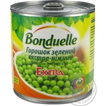 Горошек зеленый Bonduelle экстра-нежный 425мл - купить, цены на Novus - фото 2