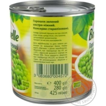 Горошек зеленый Bonduelle экстра-нежный 425мл - купить, цены на Novus - фото 4